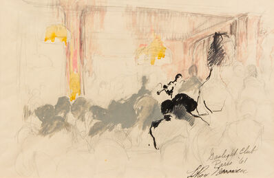 LeRoy Neiman, 'Gas Light Club Paris', 1961