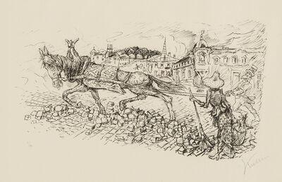 Alfred Kubin, 'Street Scene', 1923