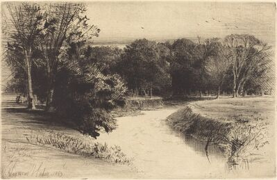 Francis Seymour Haden, 'A Sunset in Ireland [see REMARKS]', 1863