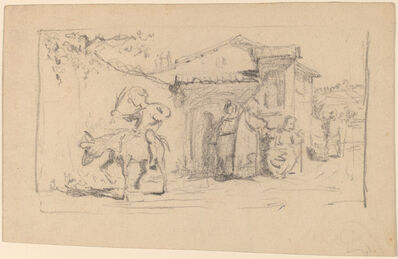 Elihu Vedder, 'Son and Donkey', ca. 1859