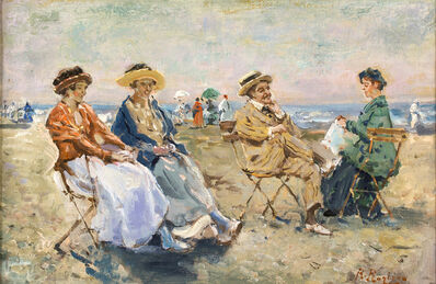 Raffaele Ragione, 'Figures on the beach'