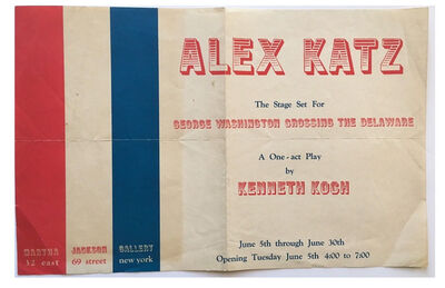 "Alex Katz, '""Alex Katz"", 1962, Stage Set, Invitation/Poster, Kenneth Koch, Martha Jackson Gallery NYC', 1962"