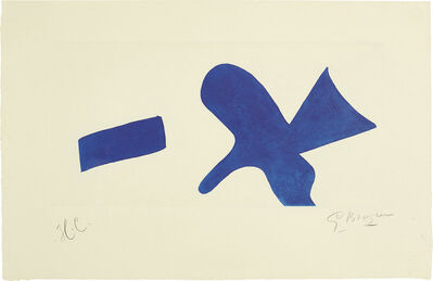 Georges Braque, 'L'oiseau bleu (Invitation exposition Louis Broder pour le livre de Braque) (The Blue Bird - invitiation exhibition Louis Broder for Braque book)', circa 1960