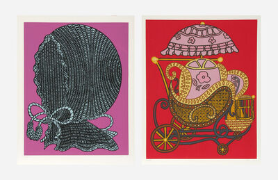 William Nelson Copley, 'Baby Buggy and Baby Bonnet (two works)', 1978