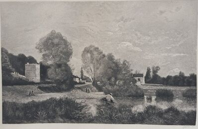 Jean-Baptiste-Camille Corot, 'L'Etang a Ville d'Array', 1883