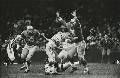 Art Shay, 'Green Bay Packer Bart Starr vs Detroit Lions Roger Brown, 1962', 1962