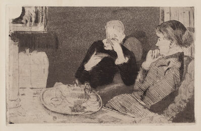 Mary Cassatt, 'Lydia and Her Mother at Tea', 1882