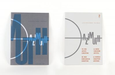 Piero Manzoni, 'Azimuth. La nuova concezione artistica n.1 e 2', 1959-1960