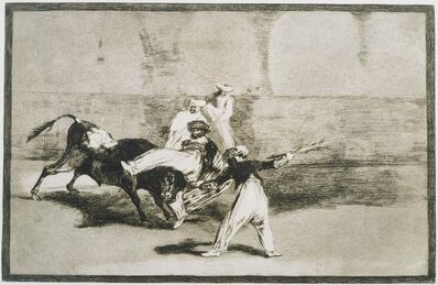 Francisco de Goya, 'A Moor Caught by the Bull... from La Tauromaquia', 1816