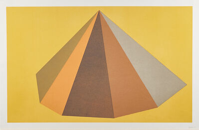 Sol LeWitt, 'Plate #6 from Pyramids', 1987