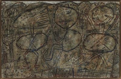 Jean Dubuffet, 'Paysage avec trois personnages', 1949