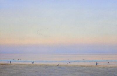 Willard Dixon, 'Evening Beach / American realism ocean beach figurative landscape', 2019