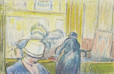 Martin Bloch, 'Cafe Scene, Berlin', c.1920s