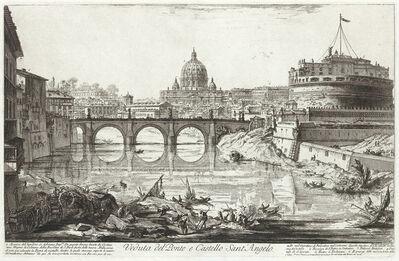 Giovanni Battista Piranesi, 'Veduta del Ponte e Castello Sant'Angelo', 1754