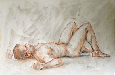 Monari, 'Nake Male (lying)', 2008