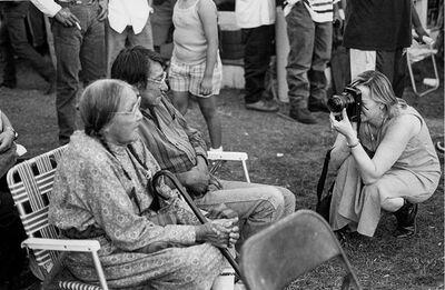 Zig Jackson, 'Indian Photographing Tourist Photographing Indians, Crow Fair, Montana', 1991
