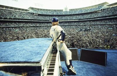 Terry O'Neill, 'Elton John, Dodger Stadium, Los Angeles', 1975