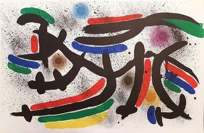 Joan Miró, 'Mirò Lithographe I - Plate IX', 1972