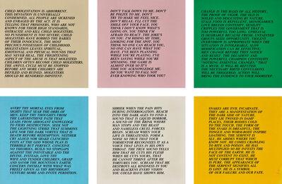 Jenny Holzer, 'Inflammatory Essays: 25 works', circa 1979-82
