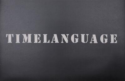 Luis Camnitzer, 'TIMELANGUAGE', 2016