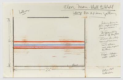 Stephen Antonakos, 'Floor Neon - Wall to Wall (Hallway for Axiom Gallery)', 1969