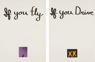 Chris Burden, 'If You Fly, If You Drive (diptych)', 1973