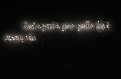 Joseph Kosuth, ''Texts for Nothing #15' (Così a poco a poco quello che è strano, via)', 2010