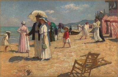 Rene-Xavier Prinet, 'La plage, Cabourg', 1908