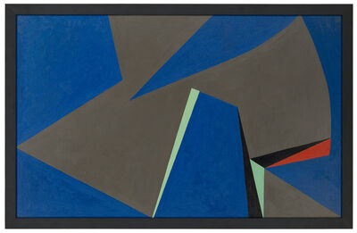 Lorser Feitelson, 'Magical space-forms (Formas espaciales mágicas)', 1956