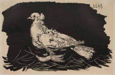 Pablo Picasso, 'Pigeon Blanc Fond Noir', 1947