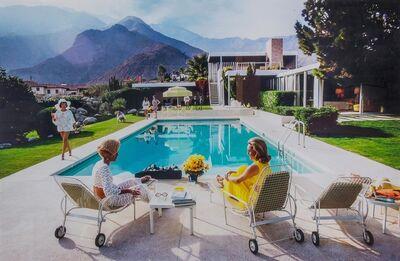 Slim Aarons, 'Poolside Gossip: Lita Baron, Nelda Linsk and Helen Dzo Dzo, Palm Springs', 1970