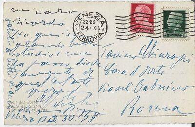Filippo De Pisis, 'Autograph Postcard Signed by Filippo de Pisis', 1953