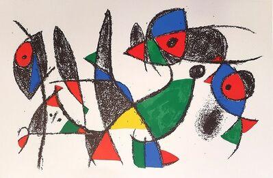Joan Miró, 'Mirò Lithographe II - Plate IX', 1975
