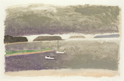 Wolf Kahn, 'Bay with Boats', 1987