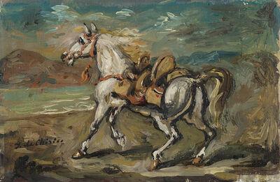 Giorgio de Chirico, 'Cavallo orientale su una spiaggia mid 50s'