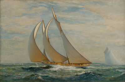 James Gale Tyler, 'New York Yacht Club Regatta; The Big Schooner Class', 1899