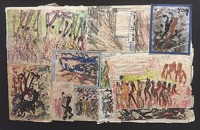 Purvis Young, 'Untitled (Collage 22)', ca. 1980