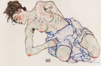 Egon Schiele, 'Kneeling Female Nude', 1920