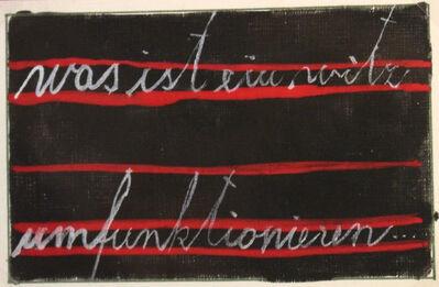 Dimitrije Bašičević Mangelos, 'Was ist ein Witz umfunktionieren…', 1960