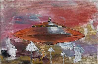 Tim Johnson, 'Red UFO', 2017