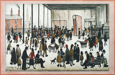 L.S. Lowry, 'Punch and Judy', ca. 1940