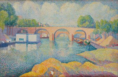 Hippolyte Petitjean, 'Un pont à Paris', ca. 1890