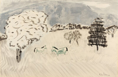 Milton Avery, 'Country Horses', 1962
