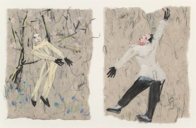 Nicolas Africano, 'Untitled Diptych (Studies for Petrouchka)', 1984