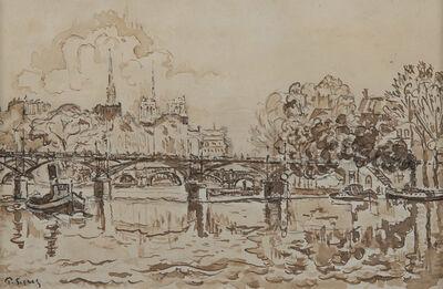 Paul Signac, 'La Seine à Paris, la passerelle des Arts', NA