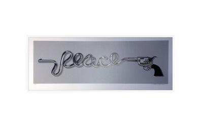 D*Face, 'Peace Gun (Silver) ', 2015