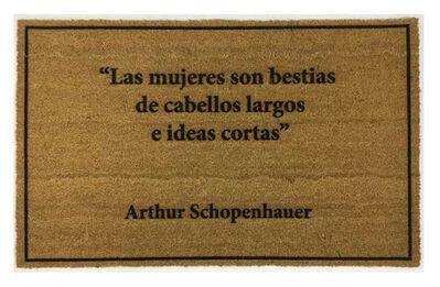 Avelino Sala, 'Felpudos (Doormats) - Arthur Schopenhauer', 2020