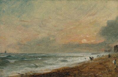 John Constable, 'Hove Beach', 1824 to 1828