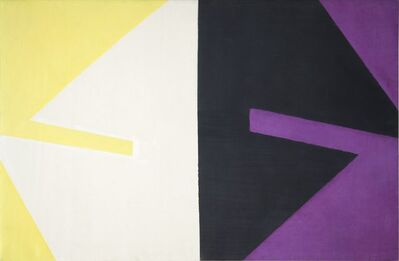 Michael Kidner, 'Violet Black White and Yellow', c.1959