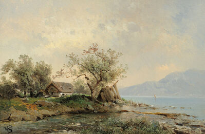 Carl Haunold, 'At the Attersee', ca. 1860